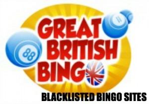 Blacklisted bingo sites