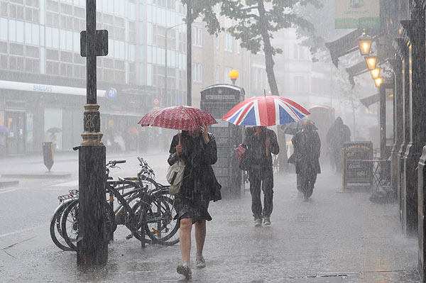 Raining during the British Summertime