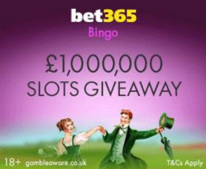 Join The Million Pound Slot Giveaway At bet365 Bingo